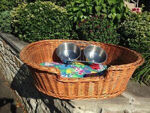 Panier d'osier pour grand chien - wicker dog basket