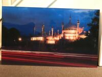 Brighton Royal Pavilion at Night Photo Perspex