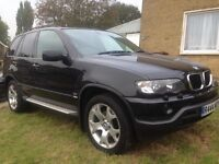 Bmw x5 2002, sport 3.0l petrol lpg, black, 12 month mot, auto, + private plates