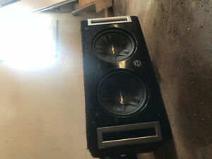 "HUGE two 12"" subs in a box!!!!!!"