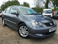 2005 54 Honda Civic 1.6i VTEC Auto Executive**24k miles**FULL SERVICE HISTORY**