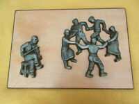 Vintage Wood & Metal Picture - Fiddler & Dancing Couples City of Montréal Greater Montréal Preview