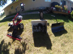Snow Blower, Snow Blade, Sickle bar Mower, Rototiller Package