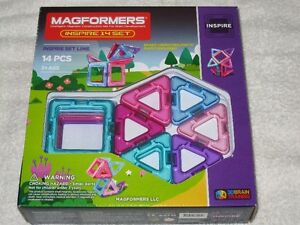 MAGFORMERS (14PC) -MAGNETIC CONSTRUCTION SET (PASTEL)- BRANDNEW!