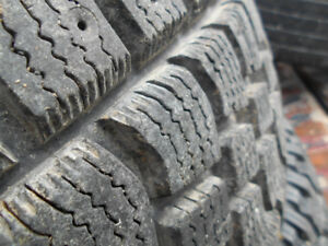 Snow tires GMC Chev L245 75 16 on 8 bolt rims – like NEW- $220