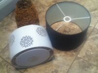3 CEILING LAMPSHADES