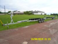 triaxle boat trailer by xcalibur