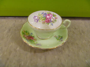 """Foley Tulip"" Foley Bone China Cup And Saucer"