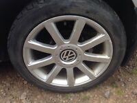 Volkswagen Alloy Wheels 5x100 Golf Bora Polo FABIA Leon TT Audi Seat Skoda