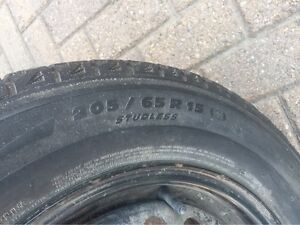 Snow tires and rims, 205/65R15 London Ontario image 2