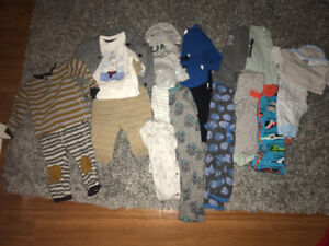 Size 3-6 baby boy fall outfits Brand name.