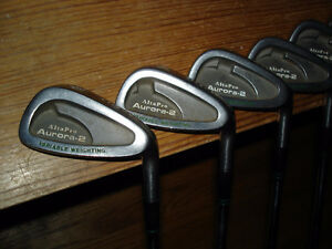 10 pce set of very good r/h irons