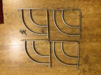 Homebase metal shelf brackets 4 silver