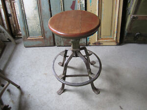 Vintage Solid Steel Achitectural style Stool 1952 rare