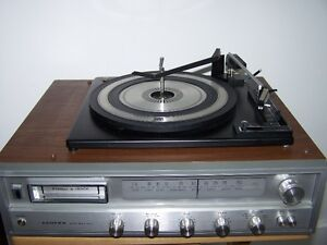 RECEIVER with BSR RECORD PLAYER AND 8 TRACK PLAYER