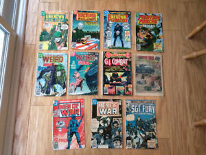 Military-War-Combat comics (vintage 1977-1984) 11 for only $20