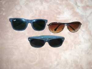 for sale 3 pairs  ray Ban sunglasses one is prescription
