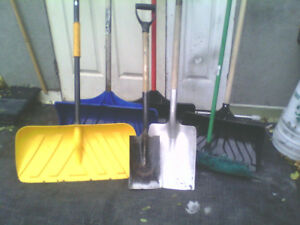 Snow shovels +