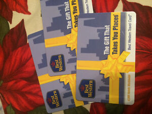 $150 in Best Western Hotel Gift Cards
