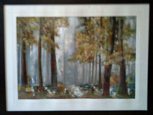 Glass framed picture...