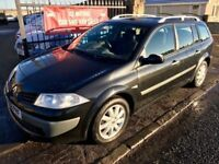 2008 RENAULT MEGANE DIESEL ESTATE, 1 YEAR MOT, WARRANTY, NOT ASTRA FOCUS GOLF BRAVO LEON 308