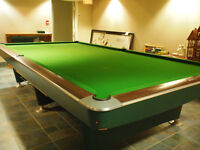 Slate Brunswick billiard table 6' by 12'