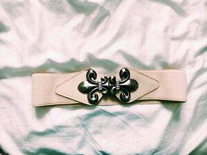 Adorable cream-coloured waist belt