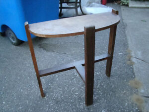 Vintage Art Deco Half Moon Hall Table