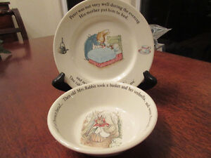 Christening gift - Peter Rabbit Wedgwood Porcelain  Bowl & plate