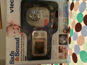 Baby monitor with parent unit.