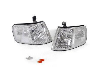 DEPO Chrome Housing Clear Lens Corner Lights + Bulbs for US Spec 90-91 Honda CRX