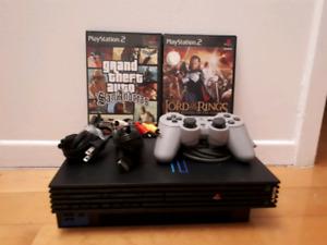 Console PS2 avec 2 jeux