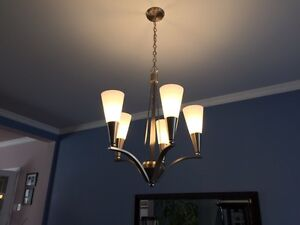 Chandelier (Brushed Stainless with Polished Accents) West Island Greater Montréal image 2