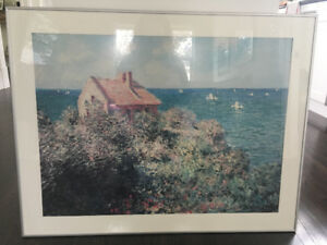 Claude Monet Framed Poster – Fishermans Cottage