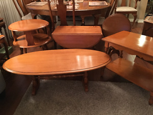 5 Vintage Pieces of Solid Maple Furniture