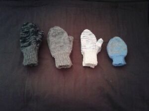 Childrens double knit mittens