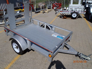 Utility Trailer 4' x 6' with rail sides