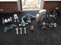 Star Wars figures and vehicles
