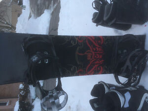 5150 snowboard and boots. Cheaper than renting.