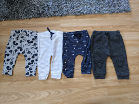 4 Mickey mouse baby boy trousers size 3_6 months