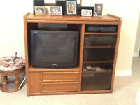 Tv and stereo stand