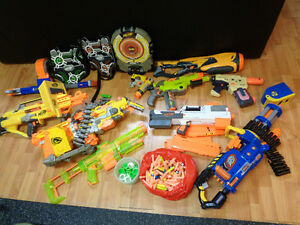 Set of Nerf Guns and Accessories