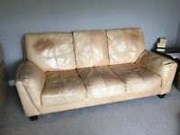 3 seater Leather sofa DFS