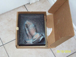 praying hands wall plaque