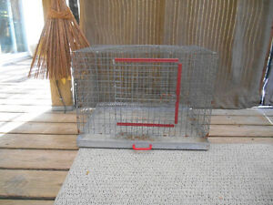 "1"" WIRE CAGE WITH TRAY"
