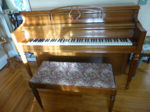 Chickering Upright Piano and Bench
