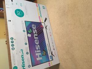 Brand new in box 50' Hisense smart TV