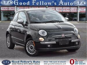 2012 Fiat 500 LOUNGE, LEATHER SEATING