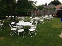 CHEAP PARTY RENTAL!! Chairs, Tables, tablecloth 416 823 3450