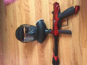 Paintball gun and helmet for sale!! Great condition!!!